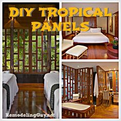 DIY Woodworking Project – Tropical Inspired Wall Panels