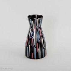 Vase Mid Century Modern Keramik Handbemalt 50er von welikevintage, €47.00