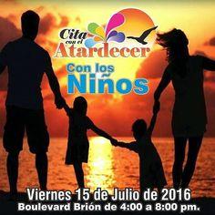 #CitaConElAtardecer.  con los Niños.  15/07/2016  4:00 p.m.  Boulevard Brión #juangriego #Regrann