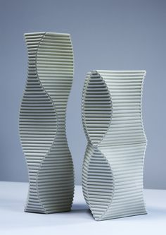 Keith Varney, 'Pulse' and 'Enfold' porcelain sculpture