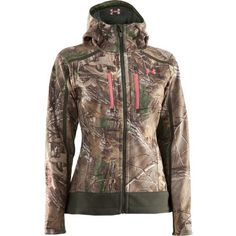Under Armour MED Womens ColdGear Infrared Ridge Reaper Jacket Camo Hunting Coat