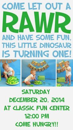 "My son Cooper's first birthday was a blast!! I know he's not going to remember it, and didn't really know what was going on, so yes, I do confess most of the stuff I did was so I could have something awesome to post on the blog, but I still fully support your decision … Continue reading ""Dinosaur Themed First Birthday Party Ideas"""