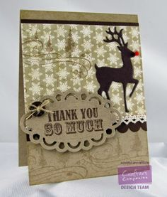 By: Kendra Wietstock for Crafter's Companion; Die'sire Classiques Elegant Reindeer; Stamp-It Australia; Sentimentals; Die'sire Decorative Die Cameo Stamping Frame.