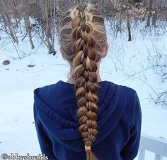 Highlights add dimension to any hairstyle! See how much they pop in this braid?