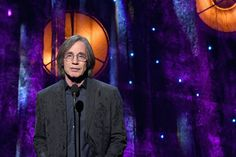 Jackson Browne Photos Photos - Presenter Jackson Browne speaks onstage at the 32nd Annual Rock & Roll Hall Of Fame Induction Ceremony at Barclays Center on April 7, 2017 in New York City. Debuting on HBO Saturday, April 29, 2017 at 8:00 pm ET/PT - 32nd Annual Rock & Roll Hall Of Fame Induction Ceremony - Show