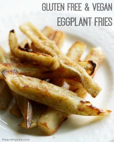 An addictive way to eat eggplant! Crispy, tasty eggplant fries made vegan and gluten free.