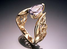 14K ring with tanzanite.