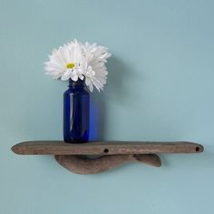 Driftwood Shelf, Driftwood Decor, Beach Decor Shelf, Reclaimed Wood Shelf