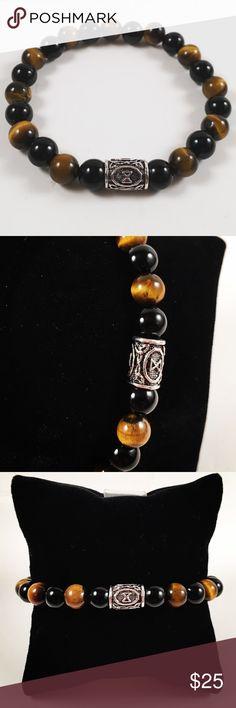 Men bead bracelet celtic  viking Dagaz rune Men beaded bracelet . Fits most   d3d0f4c2f64
