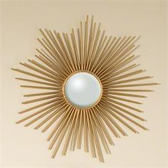 Mini Sunburst Mirror-Gold-We are pleased to offer the Gold Mini Sunburst Wall Mirror by Global Views Home Decor. Global Views home accessories have been featured around the country in well-known magazines and have even been among the furnishings at t