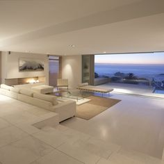 Serene view. Zen, Peaceful interior design. Modern contempory Love this space