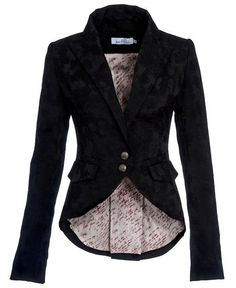 This jacket has a subtle romanticism to it, with an old-world style. Still could pair it with almost anything, though!