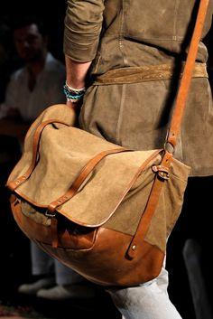 John Varvatos Spring 2012 Menswear Fashion Show Details Leather Fashion, Leather Bag Men, Mens Fashion, Best Tote Bags, Messenger Bag Men, Leather Bags Handmade, John Varvatos, Leather Accessories, Leather Working