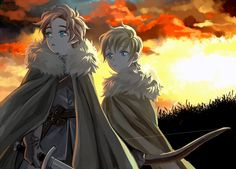 Theon/Robb:Sunset Glow by tyusiu.deviantart.com on @deviantART