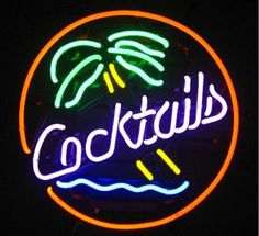 Enseigne lumineuse cocktails