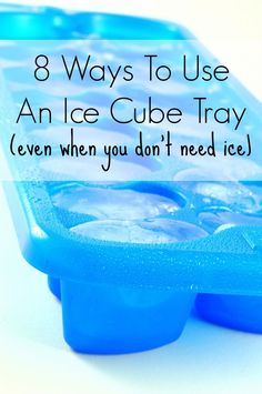 8 Ways To Use Ice Cube Trays (Even When You Don't Need Ice) | Tipsaholic.com #tips #diy #clever