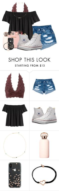 """Untitled #288"" by sophiavarrrr ❤ liked on Polyvore featuring Charlotte Russe, Converse, bkr, Kate Spade and Alex and Ani"