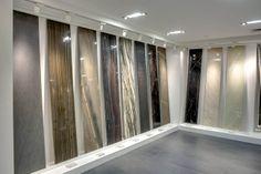 www.nemotile.com Tile Showroom, Showroom Design, Interior Design, Wall Texture Types, Small Office Design, Stone Slab, Granite Countertops, Textured Walls, Wall Design