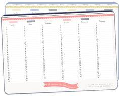 Calendrier et étiquettes d'anniversaire à imprimer - Vie de Miettes