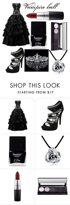"""""""Vampire ball"""" by i-live-in-the-valley-49 ❤ liked on Polyvore featuring Butter London, Bling Jewelry and MAC Cosmetics"""