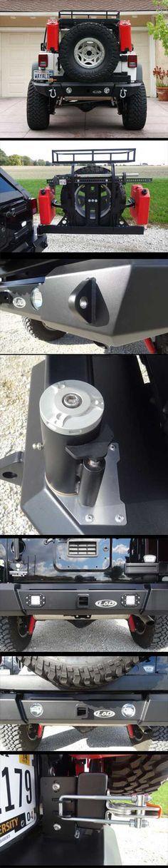 2007-2014 Jeep JK Generation 4 Signature Series Fullwidth Bumper w/ Tire Carrier lod