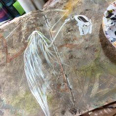 Coming together.  #artjournal #art #sundayinthestudio #fabercastell .@thestromboshow #strombo
