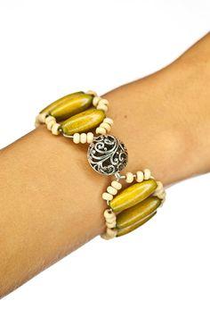 beaded bracelet, wooden bracelet, stretch bracelet, spring bracelet