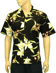 Men's Hawaiian Orchid Shirt - Puanani Design