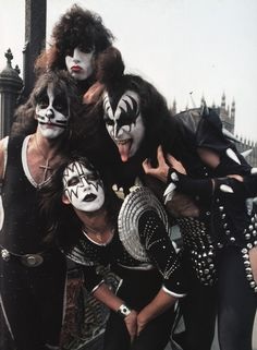 Kiss (more often styled as KISS) is an American hard rock band formed in New… Paul Stanley, Rock N Roll, Rock And Roll Bands, Peter Criss, Gene Simmons, Glam Rock, Eric Singer, Kiss Group, Eric Carr