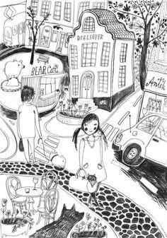 emmi jormalainen Portfolio | Kuvittajat illustration line work