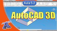 Curso de AutoCAD 3D - Aula 5.2 - Ferramentas de Modelagem Parte 2b - Aut...