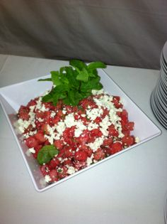 Mint, Watermelon and Feta Cheese Salad ---#arista #catering #Seattle #salad (888)98-CATER