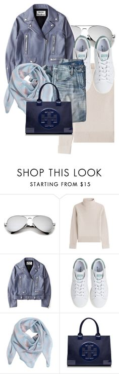 """""""Untitled #898"""" by evmarx ❤ liked on Polyvore featuring Vanessa Seward, Acne Studios, adidas, J.Crew, Alexander McQueen and Tory Burch"""