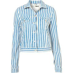 Moto striped jacket