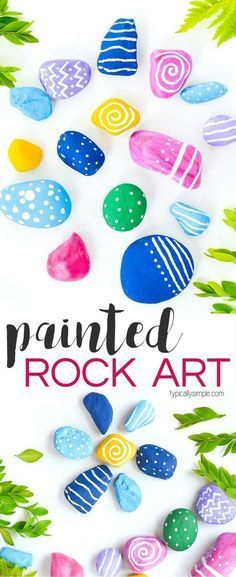 Get creative with this painted rock art project - a perfect craft for camping, at the cabin, or just in the backyard! Get creative with this painted rock art project - a perfect craft for camping, at the cabin, or just in the backyard! Rock Crafts, Crafts To Make, Crafts For Kids, Arts And Crafts, Easy Crafts, Teen Crafts, Kids Diy, Decor Crafts, Easy Diy