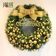 Christmas wreath 60cm gold fruit christmas rattan hoop garishness door hanging christmas decoration(China (Mainland))