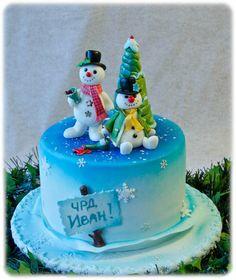 Funny snowmen cake Cake by meryshik