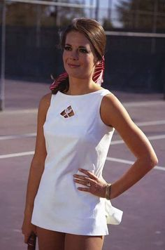 Natalie Wood on the tennis court...