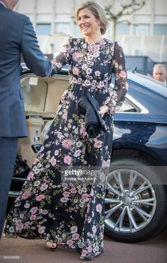 Queen Maxima of the Netherlands arrives at Theater Tilburg for the Kingsday concert on April 4, 2017 in Tilburg, The Netherlands.