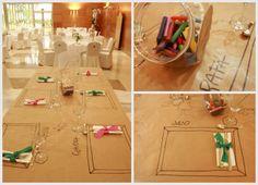 Entretén a los niños de tu boda con esta divertida mesa