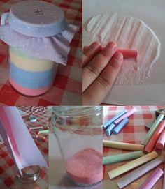 Toverpotjes: Met een potje, zout en krijt maak je dit toverpotje.