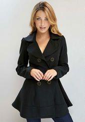 Adorable black skirted coat!!