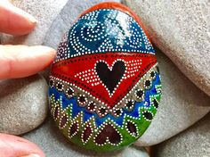 the messenger / painted rocks / painted stones / paperweights