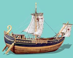 Ancient Roman Merchant Model Ship.