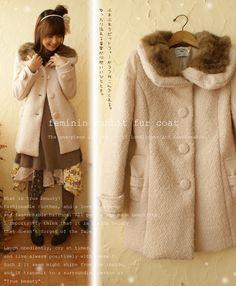 feminin rabbit fur coat