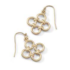 For-Tet Gold Tone Earrings