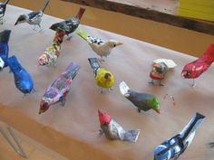 paper mache birds DIY