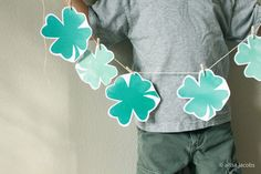 Free printable for st. patrick's day, watercolor shamrock garland