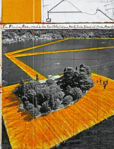 """Christo and Jeanne-Claude, """"The Floating Piers"""". A project is for Italy's Lake Iseo tucked into the Alps northeast of Milan, and will be open to the public this year from June 18 to July 3."""