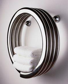 """bathroom vanities & vainities: Runtal Radiators Bisque Collection Hot Hoop Towel Warmer-19.6"""" Dia. x 9.5"""" Deep - HH-50"""